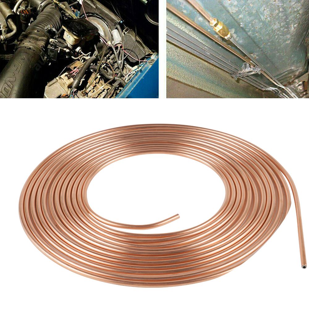 """0.028/"""" Wall Thickness 100 ft  3//16 in Copper-Nickel Brake Line Coil"""