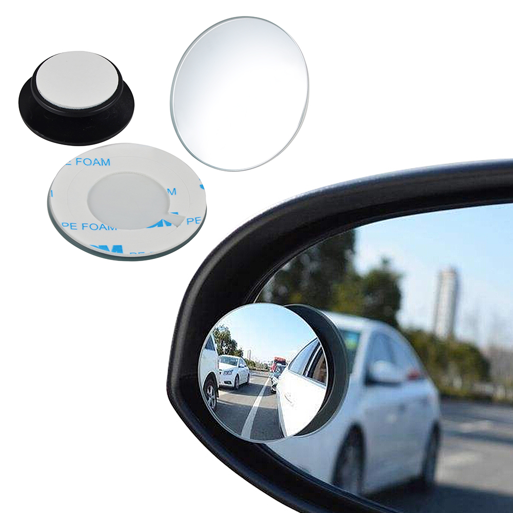 One Pair Universal Blind Spot Mirror With Convex Wide Angle /& Adjustable Angle