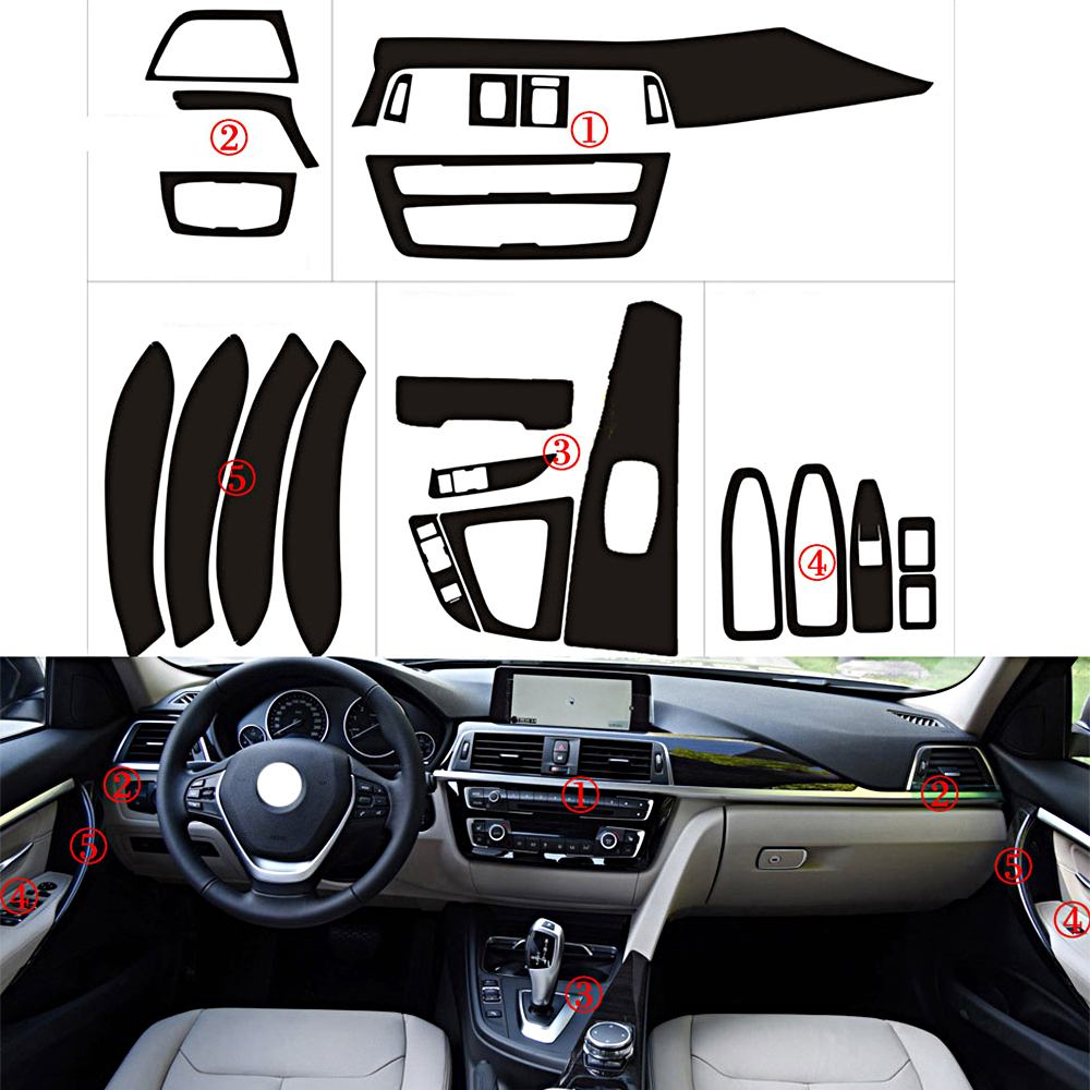 Replacement Carbon Fiber Steering Wheel Trim for BMW F30 F31 3-Series 335i 328i