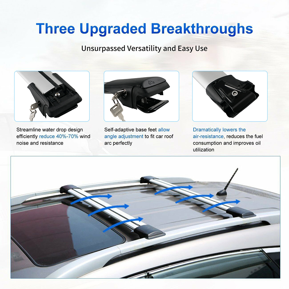 Car Top Roof Luggage Holder Aluminium Alloy Crossbar Rack