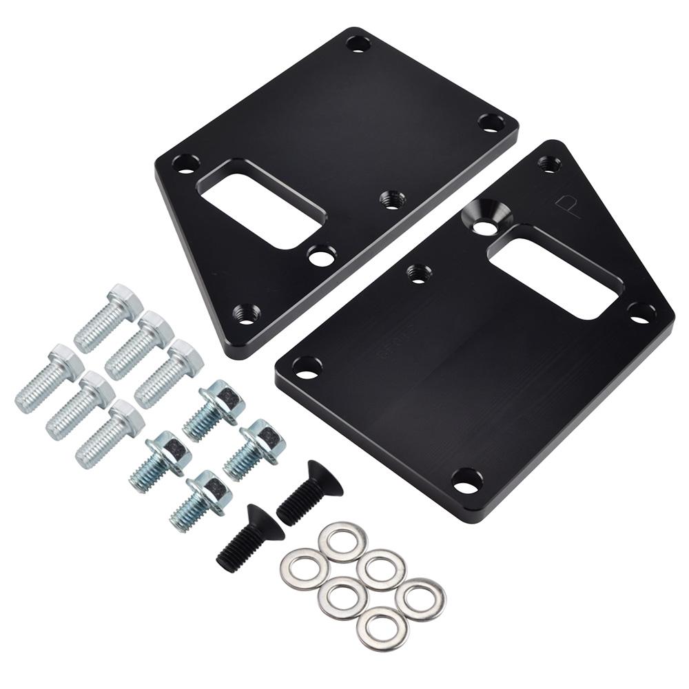 LS1 Conversion Motor Mount Adapter Plates Billet Aluminum LS Swap Kit Silvery