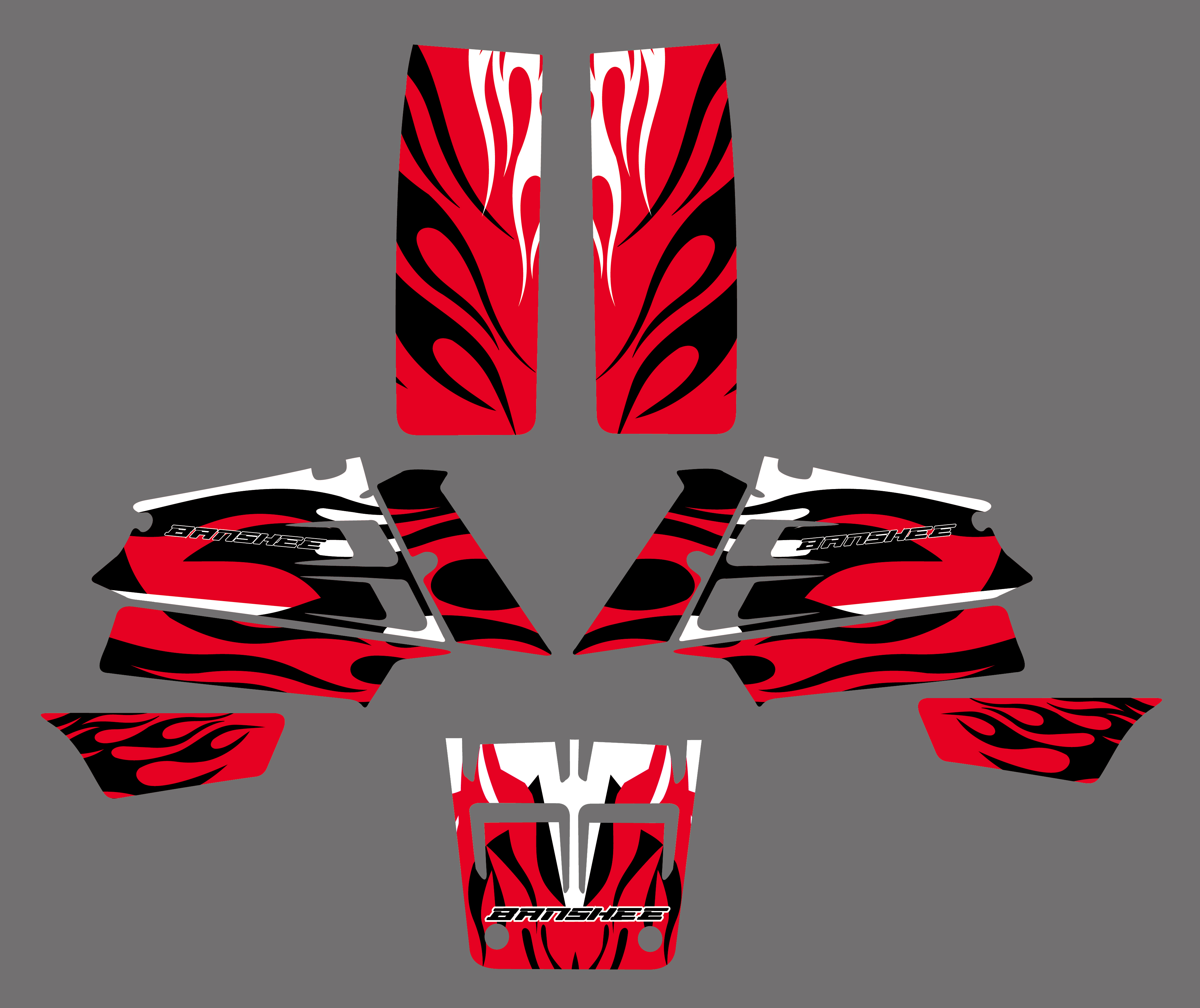 Decals graphic stickers For yamaha banshee 350 yfz 350 1996 96 red