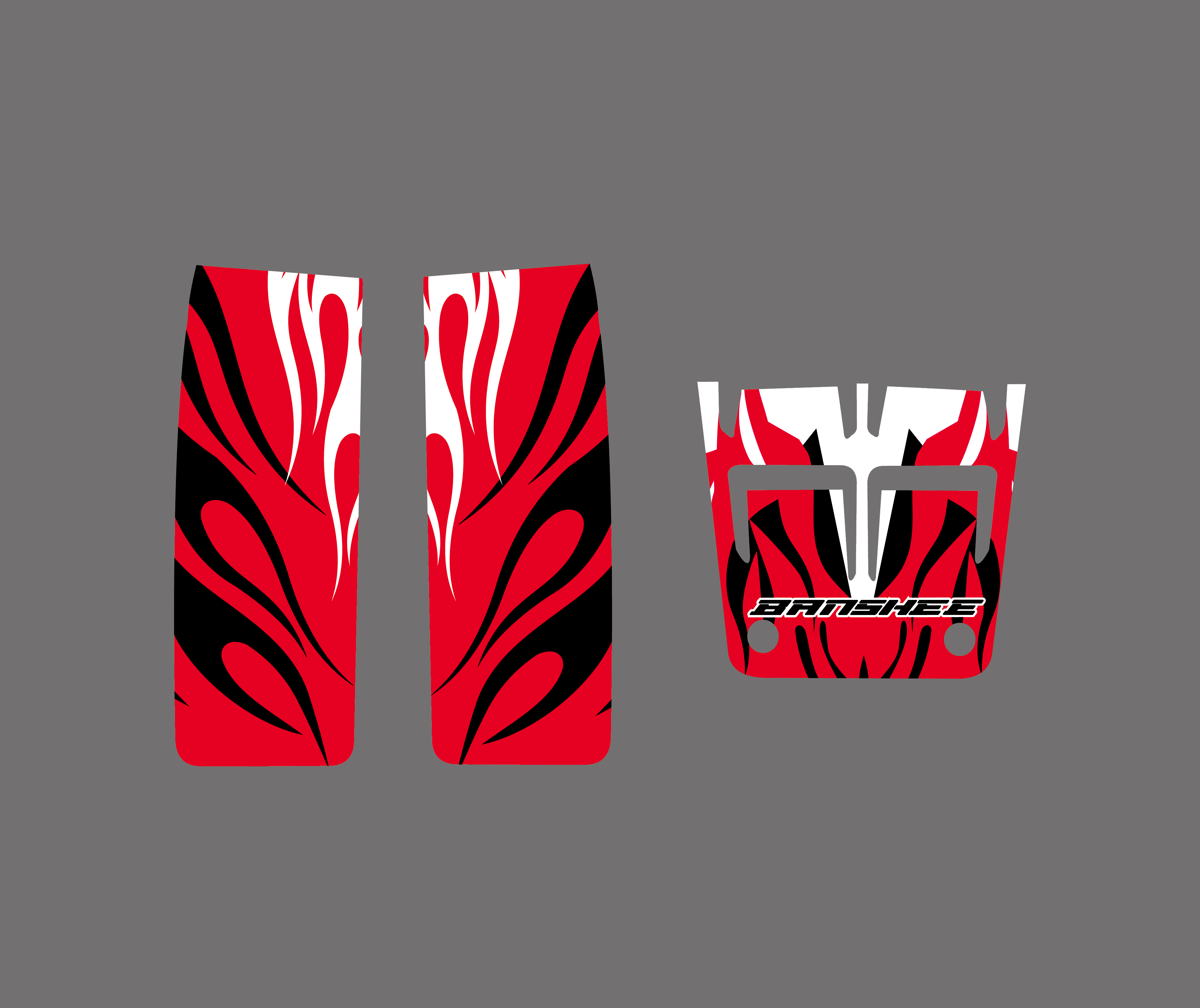 New BLACK RED DECALS STICKERS Graphics Kits For YAMAHA
