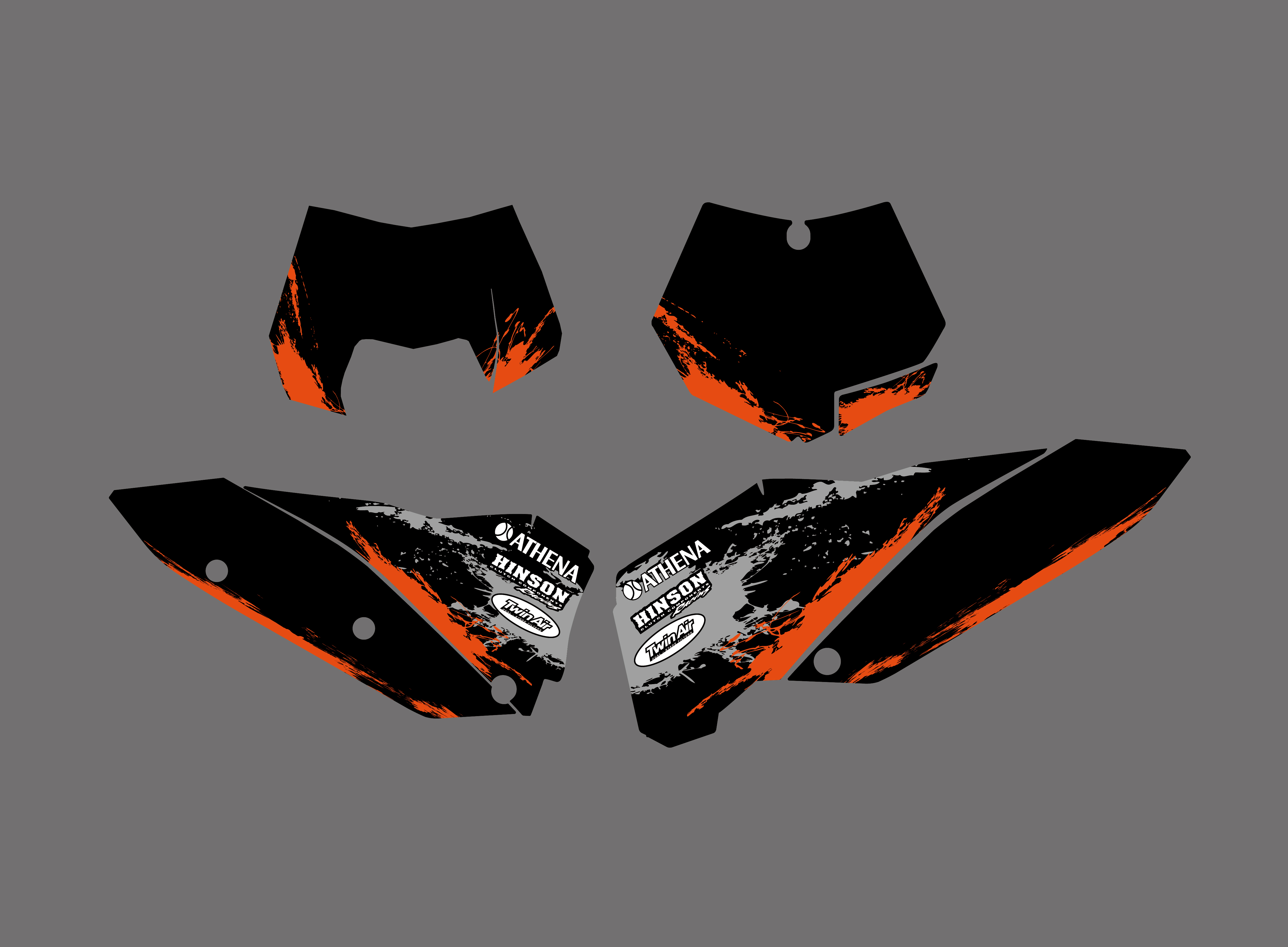 TEAM GRAPHICS /& BACKGROUNDS DECALS FOR KTM SX SXF 07 08 09 10 XC EXC 2008-2011 C