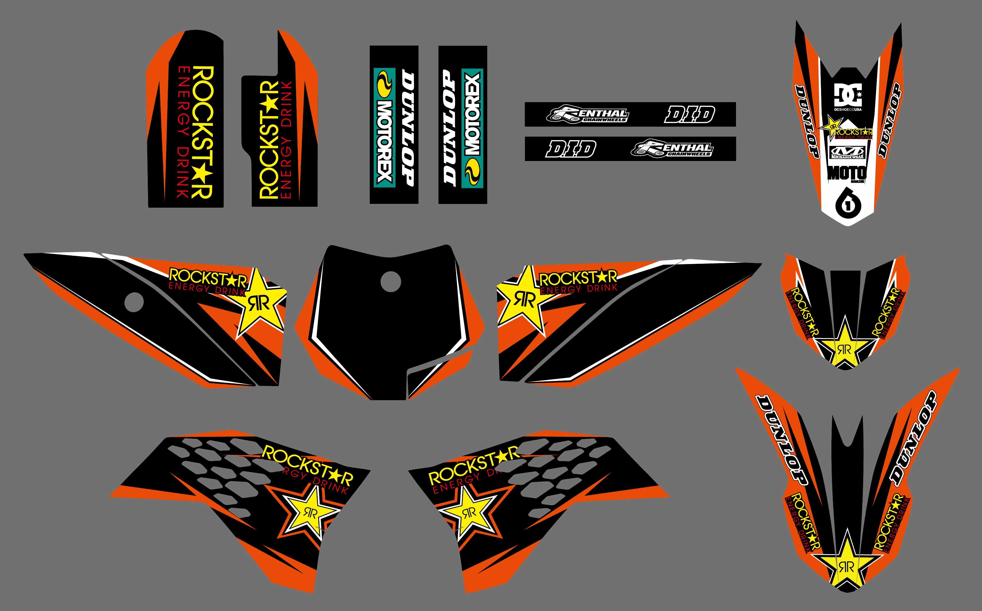 2009-2015 For KTM SX50 50SX SX 50 Radiator Shroud Graphics Fork Side Panel Decal