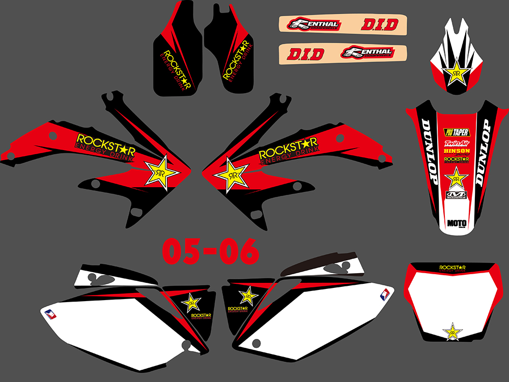 TEAM GRAPHICS BACKGROUNDS DECALS STICKERS For HONDA CRF250 CRF250R 2008 09 D1