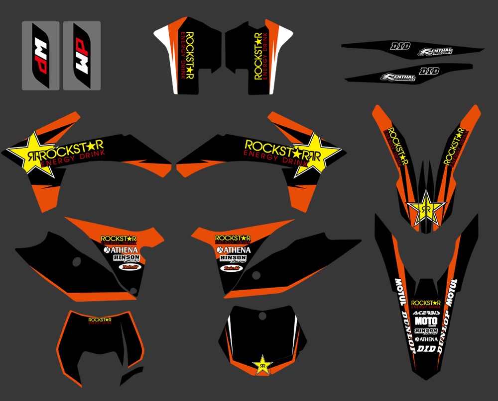 TEAM GRAPHICS BACKGROUNDS DECALS FOR KTM SX 250//380 //400//520 2003 2004 C