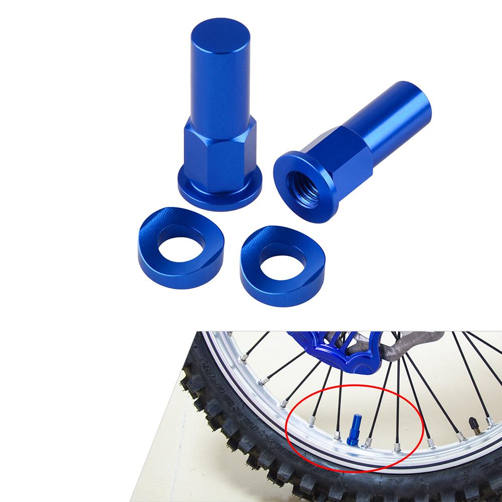 Rim Lock Nuts Spacer Plug Kit For Honda Kawasaki KTM Suzuki Yamaha 8mm x 1.25mm