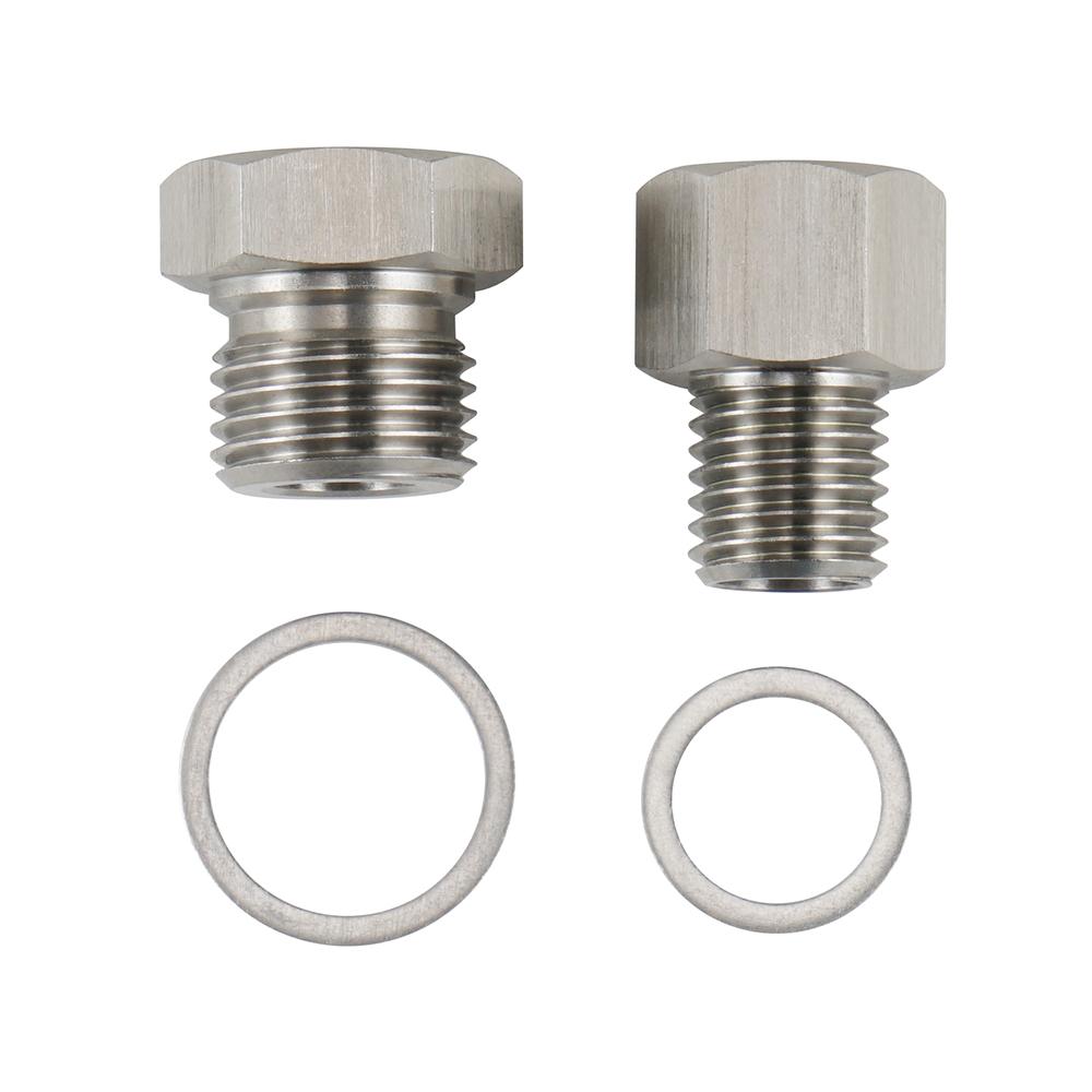2pcs M12 M16 LS1 LSX LS2 Swap Oil Pressure /& Coolant Temp Gauge Fitting Adapters