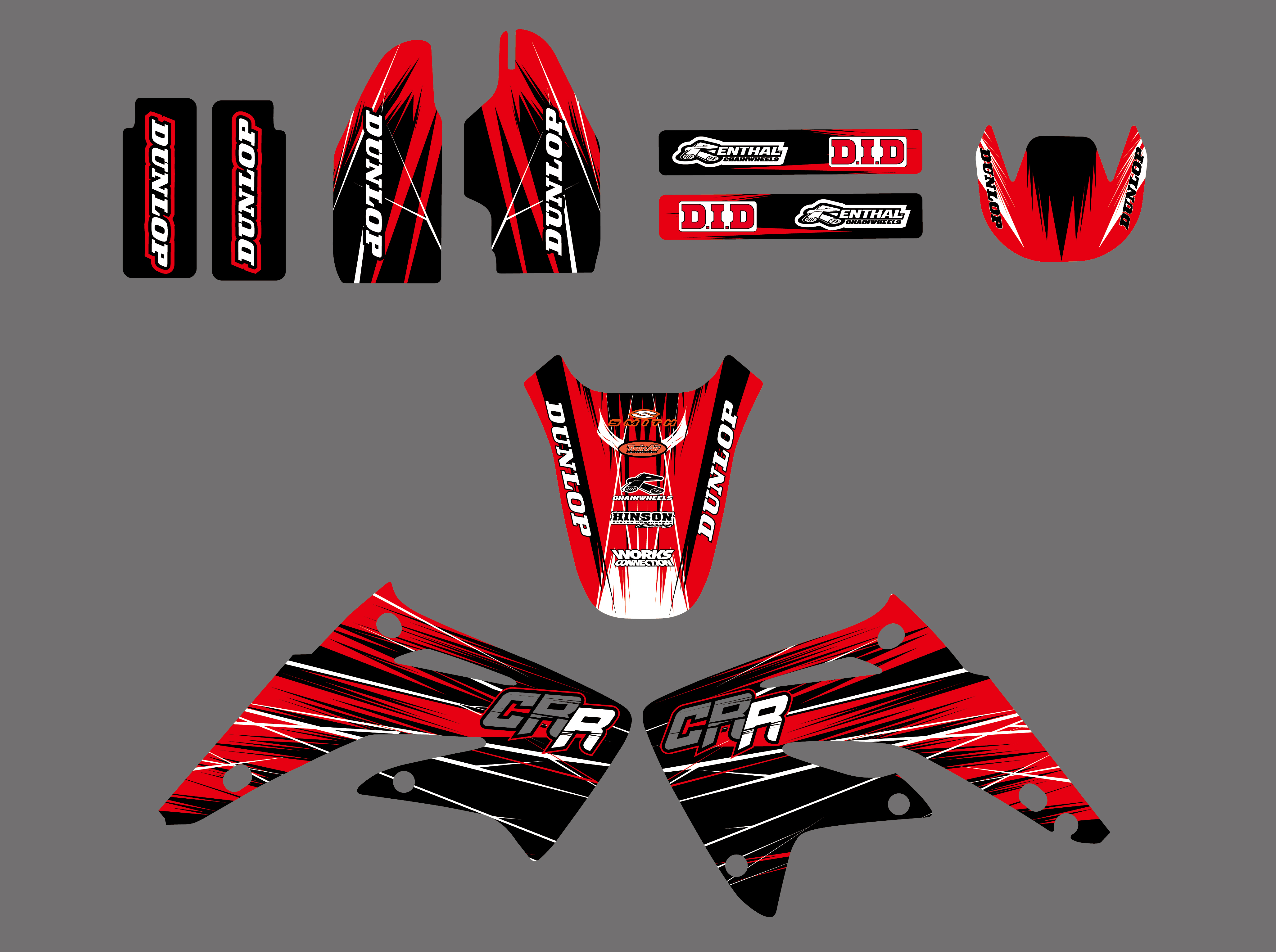 2003-2013 HONDA CR 85 STICKER GRAPHICS KIT CR85 LUCAS OIL WITH BACKGROUNDS
