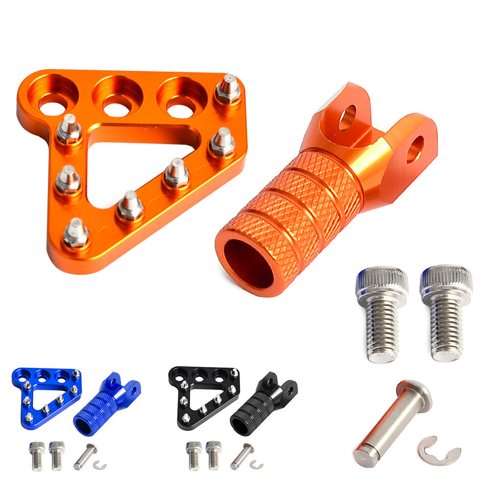 CNC Brake Pedal Gear Shift Lever Tip Step Plate Pad for KTM EXC SXF XCW XCF SMC